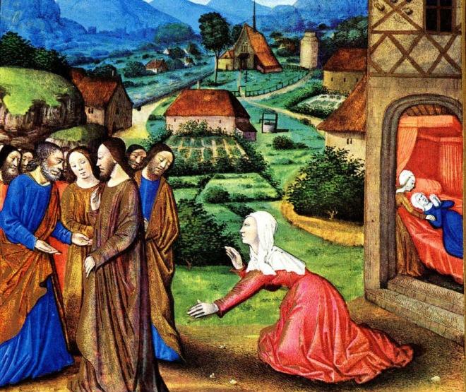 Canaanite Woman, Très Riches Heures Duc de Berry circa 1410